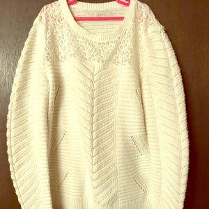Retry white Loft sweater